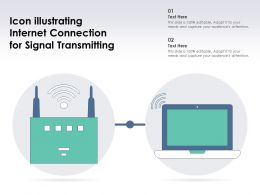 Icon Illustrating Internet Connection For Signal Transmitting