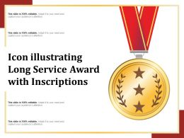 Icon Illustrating Long Service Award With Inscriptions
