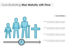 Icon Illustrating Man Maturity With Time