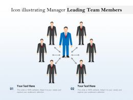 Icon Illustrating Manager Leading Team Members