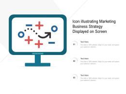 Icon Illustrating Marketing Business Strategy Displayed On Screen