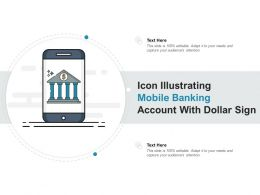 Icon Illustrating Mobile Banking Account With Dollar Sign