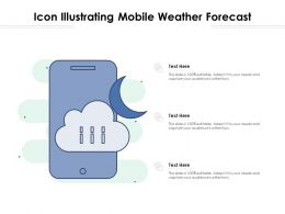 Icon Illustrating Mobile Weather Forecast