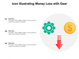 Icon Illustrating Money Loss With Gear