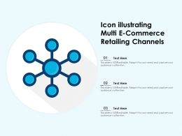 Icon Illustrating Multi E Commerce Retailing Channels