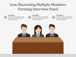 Icon Illustrating Multiple Members Forming Interview Panel