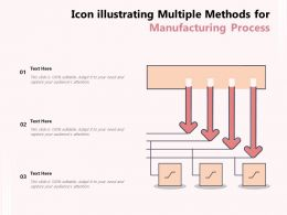 Icon Illustrating Multiple Methods For Manufacturing Process