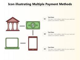 Icon Illustrating Multiple Payment Methods