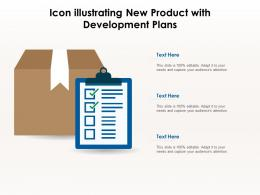 Icon Illustrating New Product With Development Plans