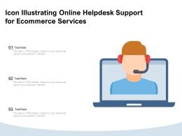 Icon Illustrating Online Helpdesk Support For Ecommerce Services