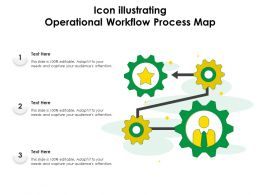 Icon Illustrating Operational Workflow Process Map
