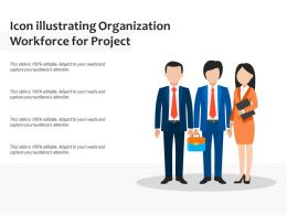 Icon Illustrating Organization Workforce For Project