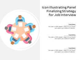 Icon Illustrating Panel Finalizing Strategy For Job Interview