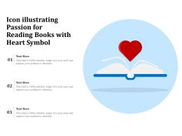 Icon Illustrating Passion For Reading Books With Heart Symbol