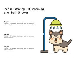 Icon Illustrating Pet Grooming After Bath Shower