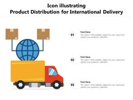 Icon Illustrating Product Distribution For International Delivery