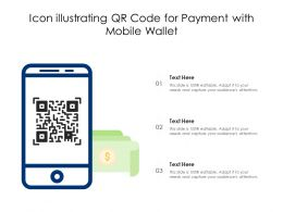 Icon Illustrating QR Code For Payment With Mobile Wallet