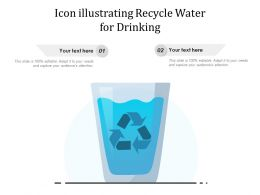 Icon Illustrating Recycle Water For Drinking