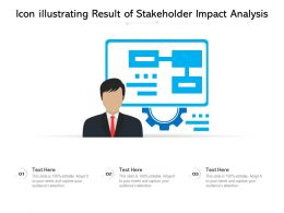 Icon Illustrating Result Of Stakeholder Impact Analysis