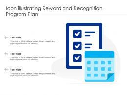 Icon Illustrating Reward And Recognition Program Plan