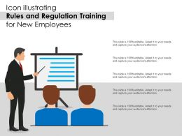 Icon Illustrating Rules And Regulation Training For New Employees