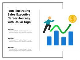 Icon Illustrating Sales Executive Career Journey With Dollar Sign