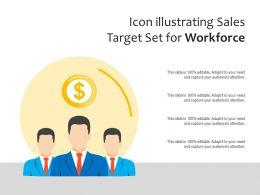 Icon Illustrating Sales Target Set For Workforce