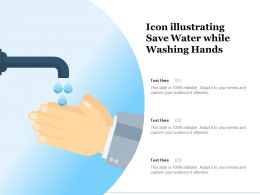 Icon Illustrating Save Water While Washing Hands