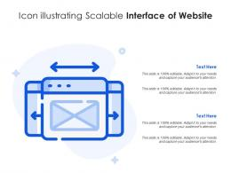 Icon Illustrating Scalable Interface Of Website