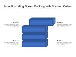 Icon Illustrating Scrum Backlog With Stacked Cubes