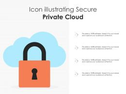 Icon Illustrating Secure Private Cloud