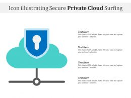 Icon Illustrating Secure Private Cloud Surfing