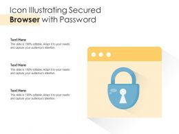 Icon Illustrating Secured Browser With Password