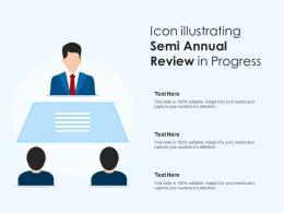 Icon Illustrating Semi Annual Review In Progress