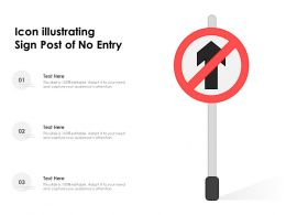 Icon Illustrating Sign Post Of No Entry