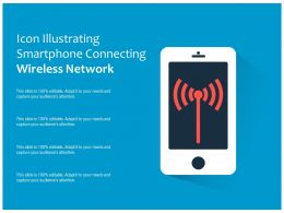 Icon Illustrating Smartphone Connecting Wireless Network