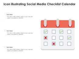 Icon Illustrating Social Media Checklist Calendar