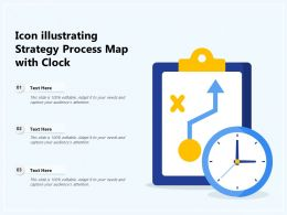 Icon Illustrating Strategy Process Map With Clock