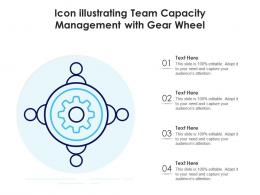 Icon Illustrating Team Capacity Management With Gear Wheel