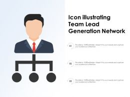 Icon Illustrating Team Lead Generation Network