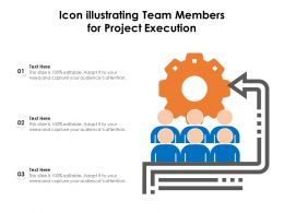Icon Illustrating Team Members For Project Execution