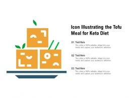 Icon Illustrating The Tofu Meal For Keto Diet
