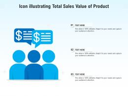 Icon Illustrating Total Sales Value Of Product