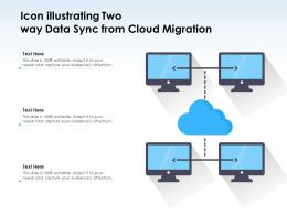 Icon Illustrating Two Way Data Sync From Cloud Migration