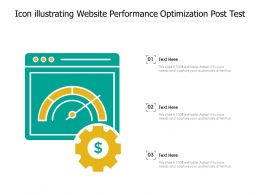 Icon Illustrating Website Performance Optimization Post Test