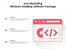 Icon Illustrating Windows Installing Software Package