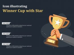 Icon Illustrating Winner Cup With Star