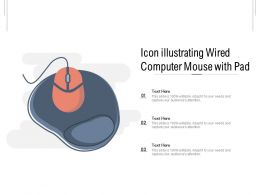 Icon Illustrating Wired Computer Mouse With Pad