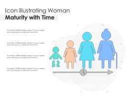 Icon Illustrating Woman Maturity With Time