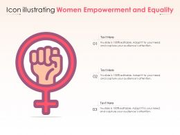 Icon Illustrating Women Empowerment And Equality